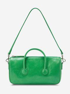 Solid Dual Handle Mini Shoulder Bag - Green