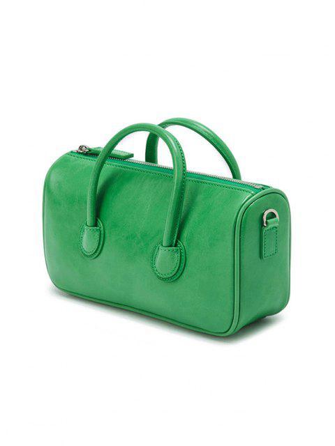 Mini Sac à Bandoulière en Couleur Unie avec Double Poignées - Vert  Mobile