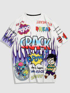 Crack Pop Art Streetwear T-shirt - White Xxl