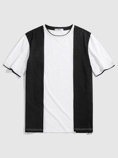 ZAFUL T-shirt Noir Et Blanc En Deux Couleurs - Noir M