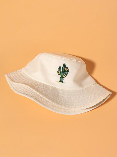 Chapéu de Balde de Estilo Casual de Cacto - Bege  Mobile