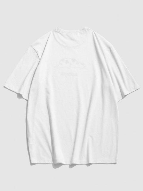 Maglietta a Maniche Corte con Stampa a Mucca - Bianca XXL Mobile