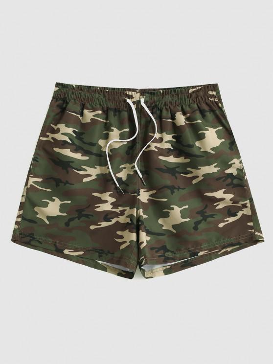 Pantaloncini Stampati Stampa Mimetica con Coulisse - Camouflage  Giugla L