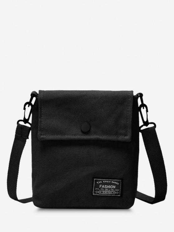 Mini Square Flap Casual Crossbody Bag - أسود