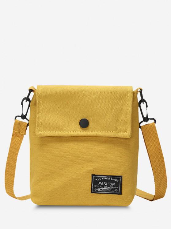 Mini Quadrat Klappe Lässige Umhängetasche - Sonne Gelb