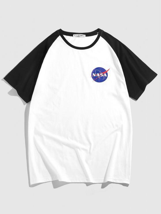 ZAFUL Camiseta con Estampado de Letras - Blanco S