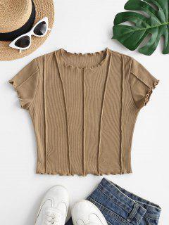 Camiseta Ajustado De Bebé Manga Larga De Punto - Café M