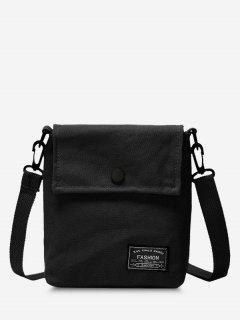 Mini Square Flap Casual Crossbody Bag - Black