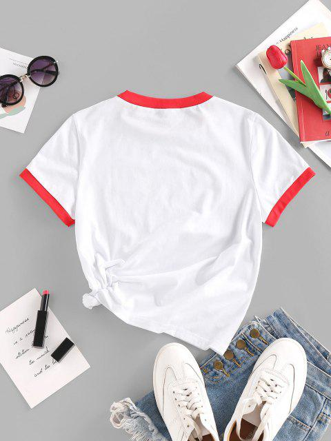 Camiseta emagrecedora de mangas longas - Branco S Mobile