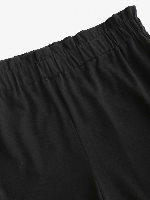 Short Ourlet en Dentelle à Taille Haute - Noir S Mobile