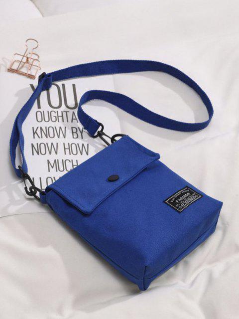 Mini Quadrat Klappe Lässige Umhängetasche - Blau  Mobile