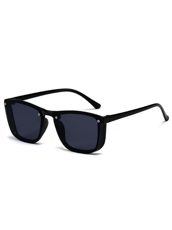 new Sqaure Unframed Anti UV Tinted Sunglasses - BLACK