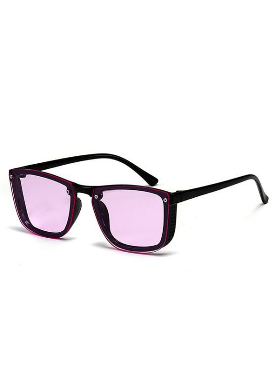 sale Sqaure Unframed Anti UV Tinted Sunglasses - PURPLE MIMOSA