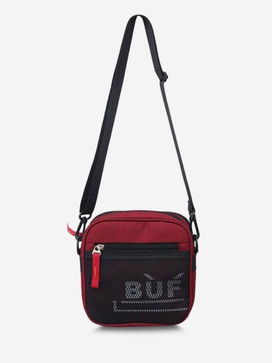 Mini Quadrat Kopf Lässige Schlinge Tasche - Rot