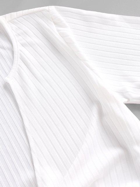 Camiseta de Nó com Nervuras - Branco M Mobile