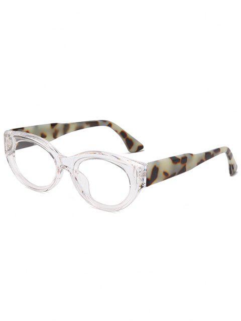 Retro Ovale Frame Breite Temple Sonnenbrille - Transparent  Mobile