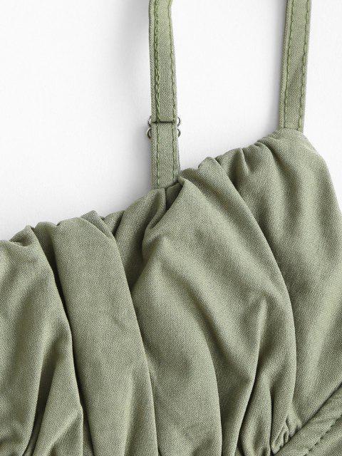 Cami Top con Cordones Fruncido - Verde S Mobile