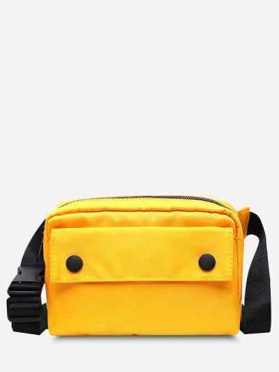 Minimalistic Waterproof Side-Release Buckle Casual Bum Bag - Sun Yellow