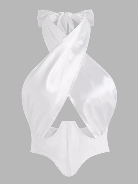 Halfter Kreuzer und Querer T-Shirt mit Front - Weiß S