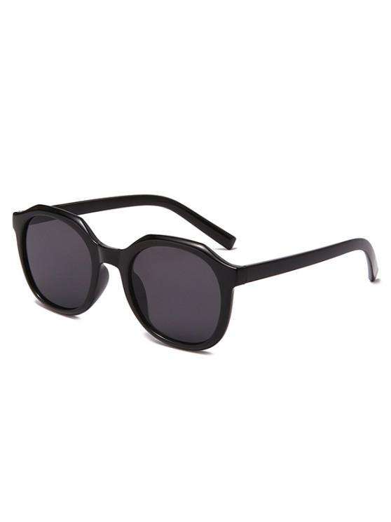 women's Classic Irregular Frame Anti UV Sunglasses - BLACK