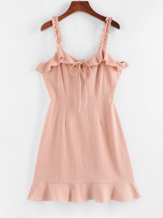 sale ZAFUL Ruffle Strap Mini Dress - LIGHT PINK S