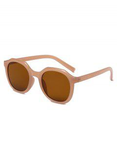 Classic Irregular Frame Anti UV Sunglasses - Chestnut