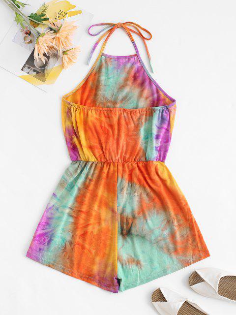 online Halter Tie Dye Romper - MULTI XL Mobile