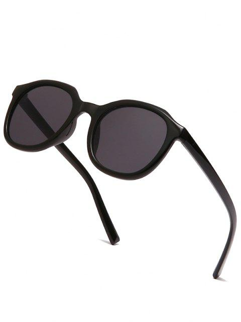 Classic Irregular Frame Anti UV Sunglasses - أسود  Mobile
