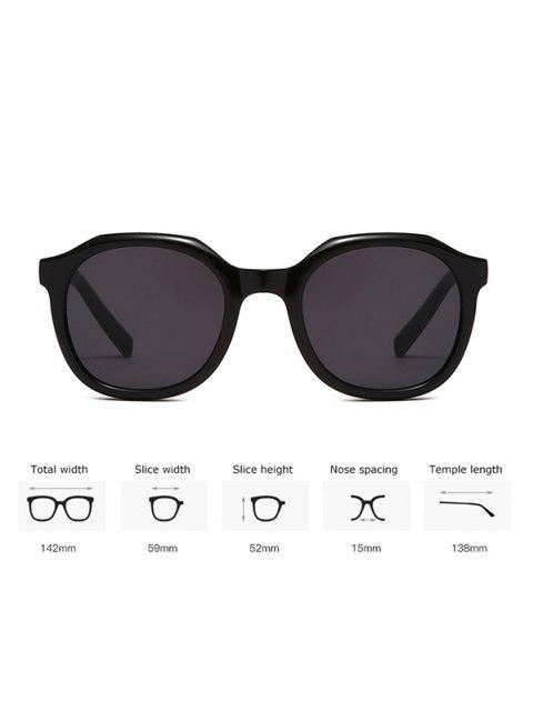women's Classic Irregular Frame Anti UV Sunglasses - BLACK  Mobile