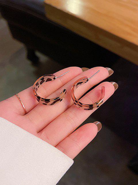 Pendientes de Aguja Plata con Forma de Leopardo en Forma de C - dorado  Mobile