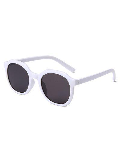 Classic Irregular Frame Anti UV Sunglasses - White