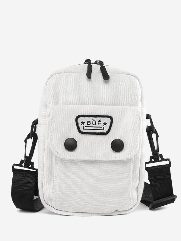 Mini Canvas Pocket Casual Crossbody Bag
