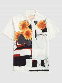 Chemise Chinée Tournesol Faisant Du Logo Imprimé à Manches Courtes - Blanc M