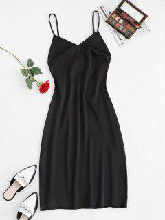 Cutout Backless Midi Slip Dress - Black M