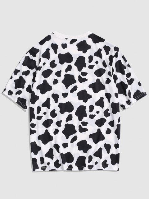 T-Shirt con Motivo a Mucca - Bianca S Mobile