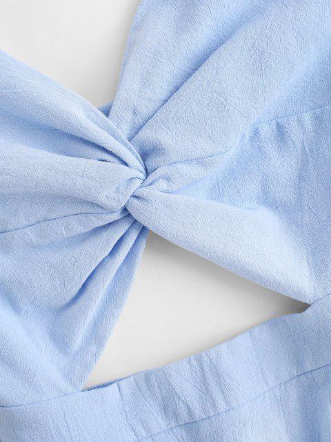 Verdrehtes Bowknot Kleid mit Ausschnitt - Hellblau M Mobile