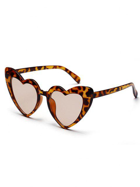 Herzform Reise-Sonnenbrillen - Leopard  Mobile