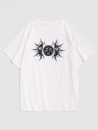 Celestial Sun And Moon Basic Tee