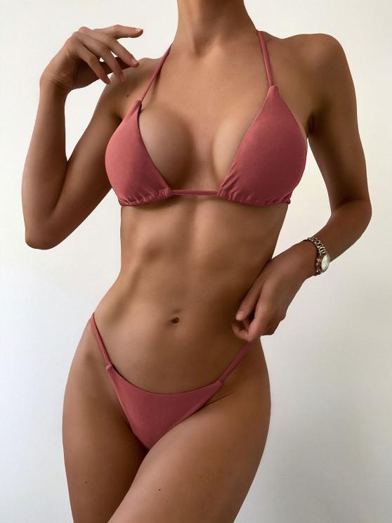 Bikini Con Halter Di ZAFUL - Rose Finch L