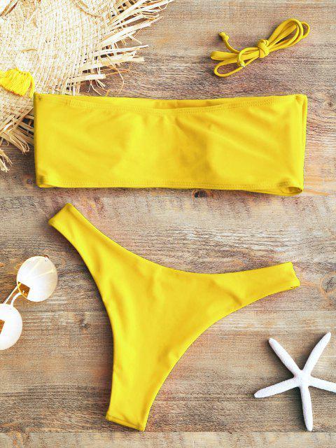 Bikini A Fascia Imbottito - Giallo M Mobile