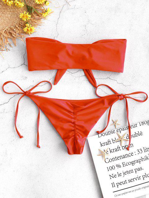 ZAFUL  Gebundenes  Bandeau -Bikini- Set - Leuchtend Orange S Mobile
