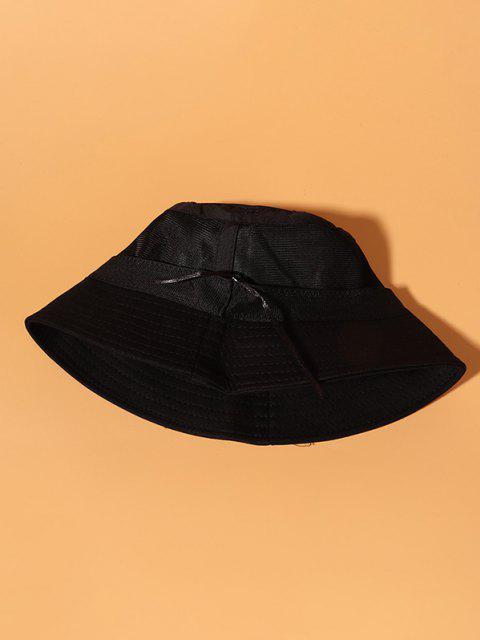 バドミントンの刺繍カジュアルバケット帽子 - ブラック  Mobile