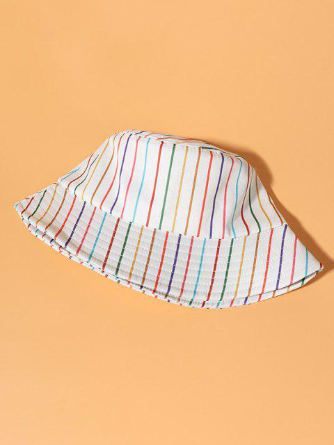Chapéu de Balde Colorido de Impressão de Listra Casual - Bege  Mobile