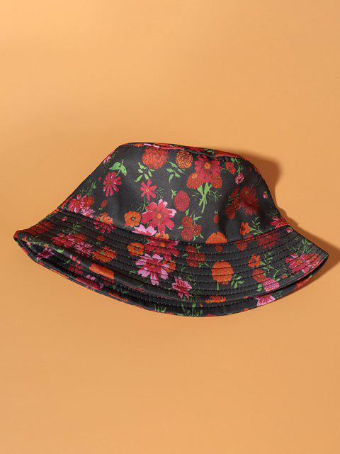 Allover Bucket Hut mit Blumendruck - Armeegrün  Mobile