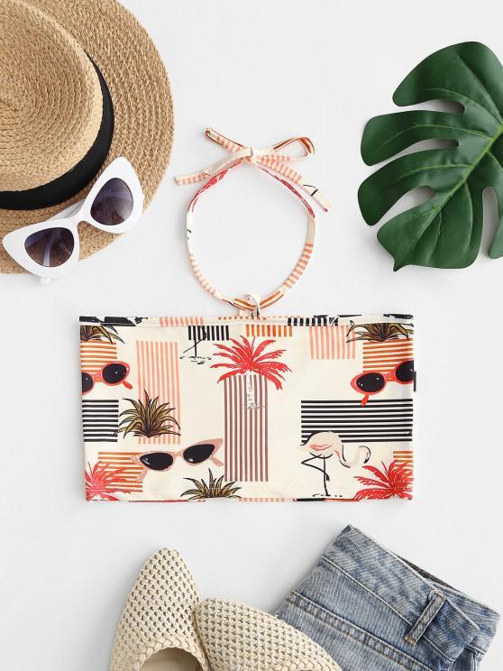 Neckholder Hawaii Kokosnuss Baum Sonnenbrille - Weiß S