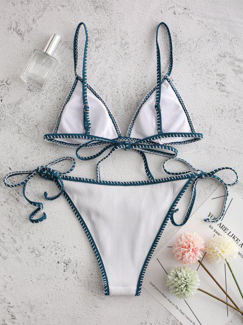 ZAFUL Bikini con Cordoncino a Frusta Testurizzata - Bianca M Mobile