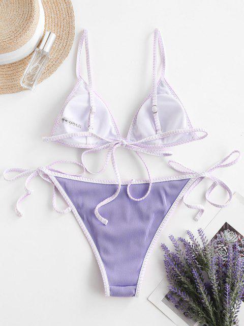ZAFUL Bikini con Cordoncino a Frusta Testurizzata - Mauve S Mobile