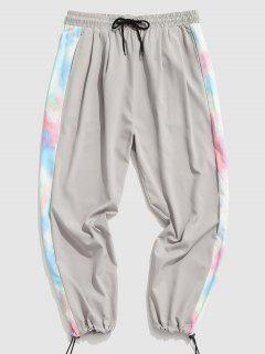 Tie Dye Print Pants - Gray 2xl