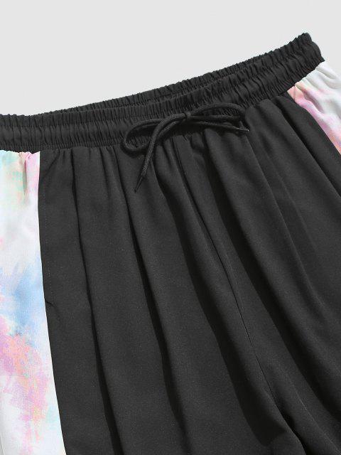 Tie Dye Drucken Hosen - Schwarz L Mobile