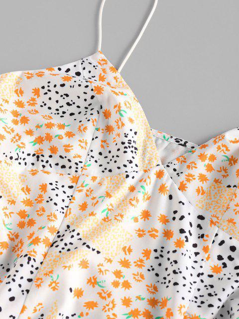 ZAFUL Gemischtes Cami Sommerkleid mit Schlitz - Weiß XL Mobile